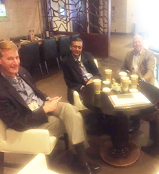 Coffee & discussion time with UMass Delegates at Antec 2017